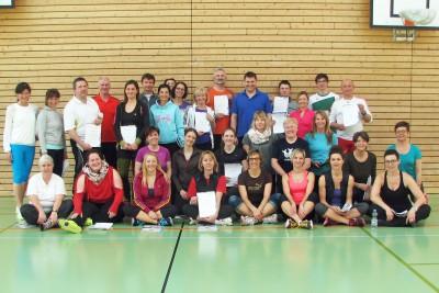Sabine Hofmann bei der Ausbildung zur B-Lizenz in der Sportschule Oberhaching