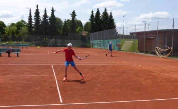 U15 beim Training